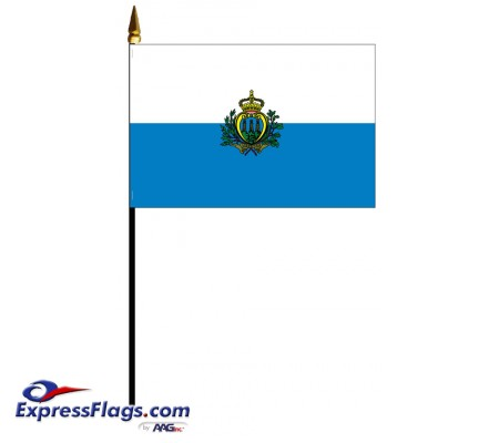 San Marino Mounted Flags - 4in x 6in033555