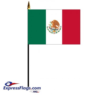 Mexico Mounted Flags