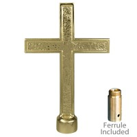 Metal Passion Cross Ornaments for Indoor Display Flagpoles
