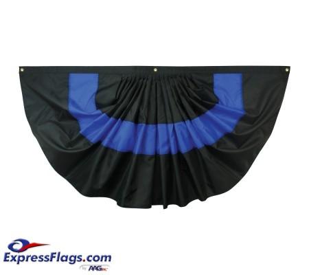 Nylon Pleated Thin Blue Line Fan