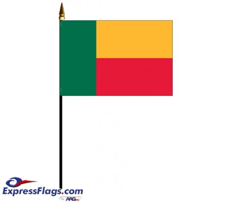 Benin Mounted Flags - 4in x 6in030485
