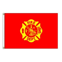 Fire Department Flag - 3' x 5' Endura-Nylon