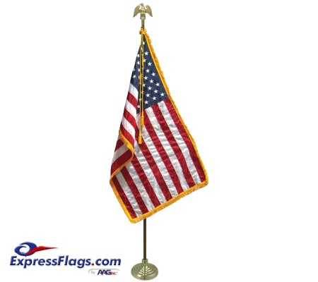 3  x 5  Freedom U.S. Flag Indoor Display Set010289