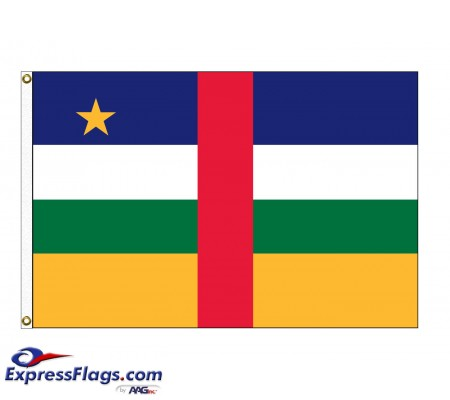 Central African Republic Nylon Flags  (UN Member)CAF-NYL