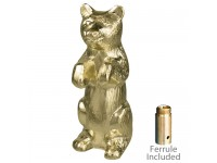Metal Bear Ornament for Indoor Display Flagpoles