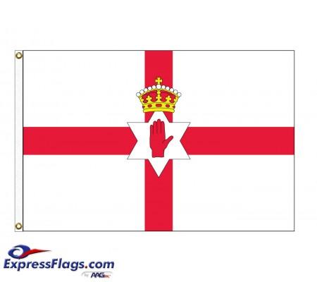Northern Ireland Nylon Flags - 3  x 5033070