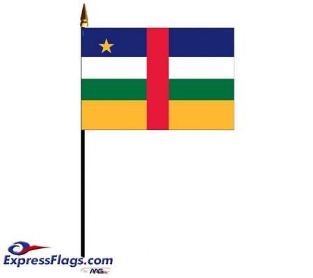 Central African Republic Mounted Flags - 4in x 6in030856