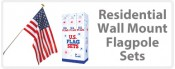 U.S. Flag Wall Mount Sets - Residential