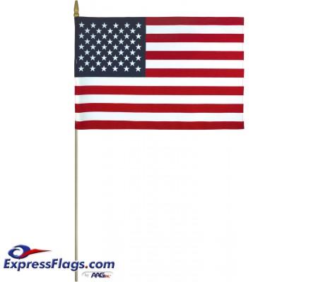 Lightweight Cotton U.S. Stick Flags - Made in USALC-USSF