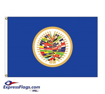 OAS Nylon Flags ( Organization of American States )OAS-NYL
