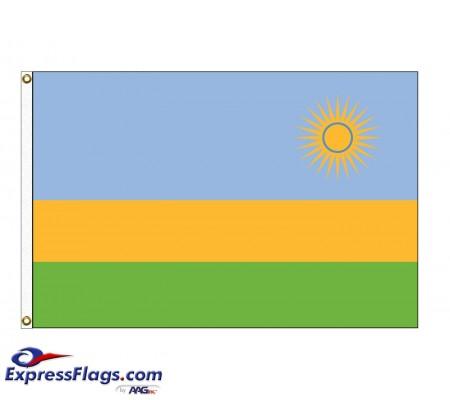 Rwanda Nylon Flags (UN Member)RWA-NYL