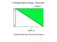 2-Diagonal Stripe Nylon Flags - Rectangle