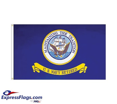 Navy Retired Flags - 3  x 5070193