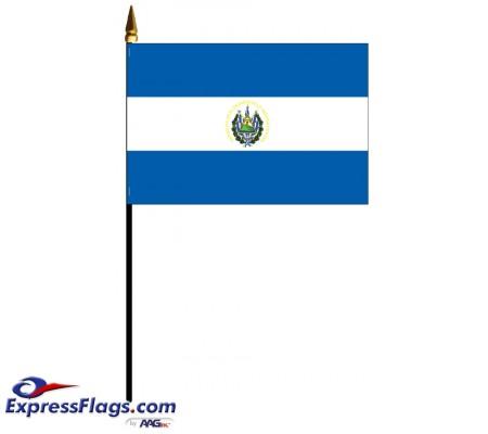 El Salvador Mounted Flags031321