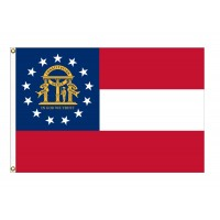 Nylon Georgia State Flags