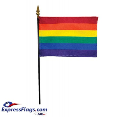 4in x 6in Rainbow Flags - Mounted090040