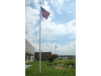 25 ft. Hurricane IH Aluminum Flagpole (0.250) - Internal Halyard
