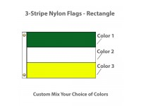 3-Horizontal Stripe Nylon Flags - Rectangle