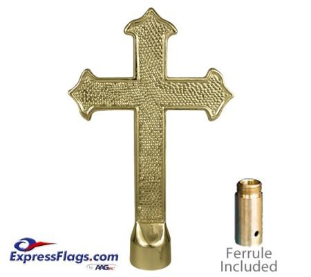 Metal Fancy Cross Ornament for Indoor Display Flagpoles050049