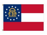 Nylon Georgia State Flags