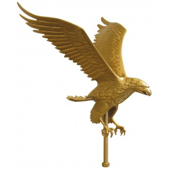 18in Aluminum Flying Eagle Outdoor Flagpole Ornaments - 15in Wing SpanE-16