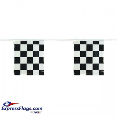 Checkered Pennant Strings - 12in x 9in  Rectangle PennantRP-CK-R