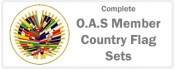 O.A.S.  Member Country Flag Sets - 35 Flags Sets