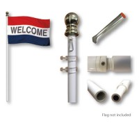 Aluminum Rotating Pole with Ground Sleeve - 9ft x 1in