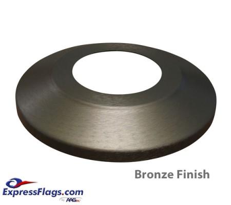 Standard Profile Aluminum Flagpole Flash Collars - Bronze FinishSPAC-B