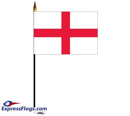 England Mounted Flags - 4in x 6in060448