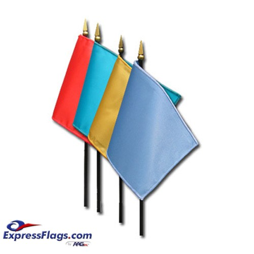 Solid Color Nylon Stick Flags - 4in x 6inSCM46