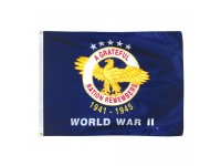 WW II Veterans Commemorative Flags - 3' x 4'