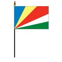 Seychelles Mounted Flags - 4in x 6in