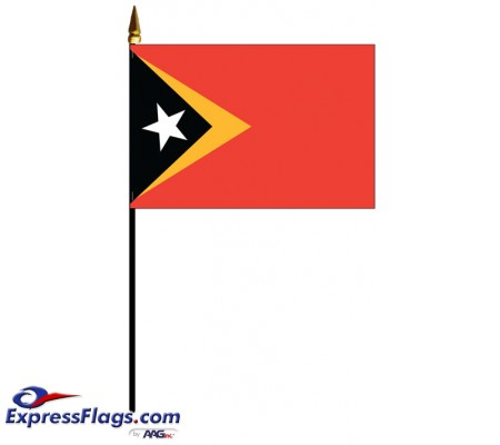 East Timor Mounted Flags - 4in x 6in035800