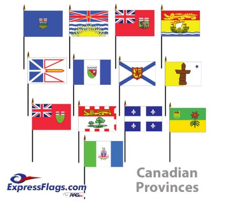 Mounted Canadian Provinces FlagsCP-MTD