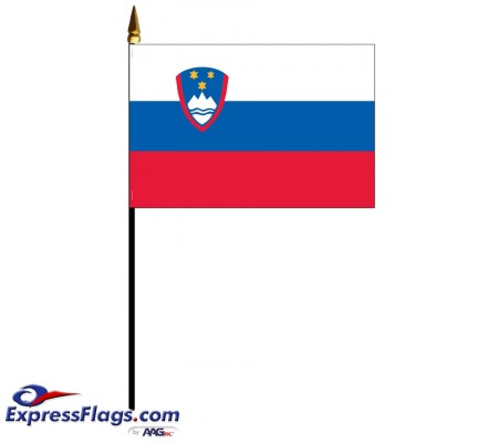 Slovenia Mounted Flags - 4in x 6in033773