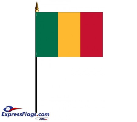 Mali Mounted Flags - 4in x 6in032601
