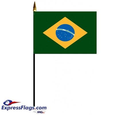 Brazil Mounted FlagsBRA-MTD