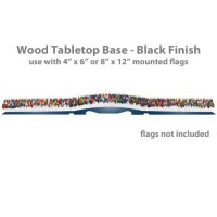 Wood Tabletop Base - 193 Flag Capacity