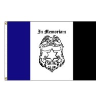 Police Mourning Flag - 3' x 5' Endura-Nylon