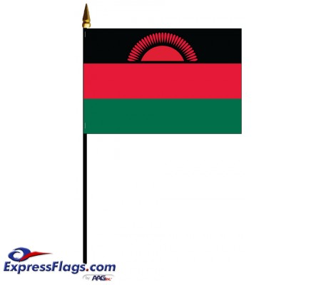 Malawi Mounted Flags - 4in x 6in032550