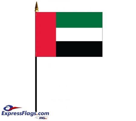 United Arab Emirates (UAE) Mounted Flags - 4in x 6in034278