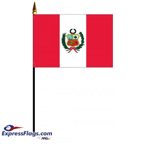 Peru Mounted Flags