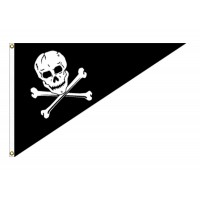 10in x 15in Jolly Roger Outdoor Pennant Flags