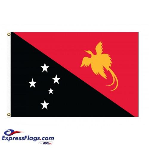 Papua New Guinea Nylon Flags (UN Member)PNG-NYL