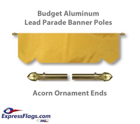 Budget Aluminum Lead Parade Banner Poles with Acorn Ornament EndsBGT-A