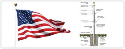 Commercial Flagpoles - Outdoor