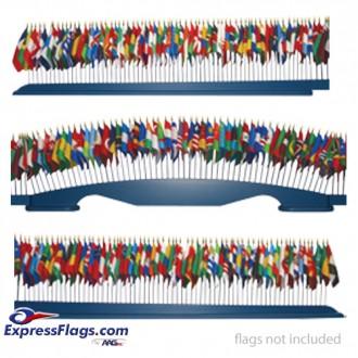 Wood Tabletop Base - 193 Flag Capacity050520