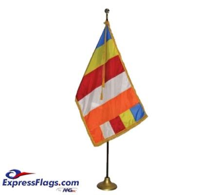 3  x 5  Deluxe Buddhist Indoor Flag SetFS-B