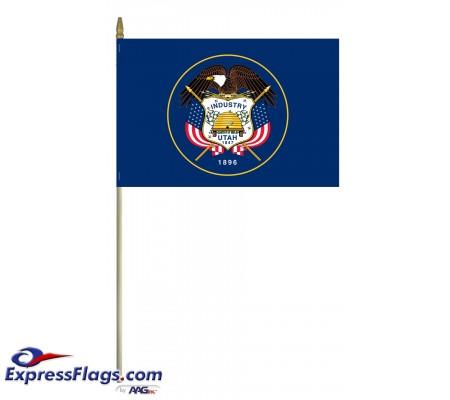 Mounted Utah State Flags